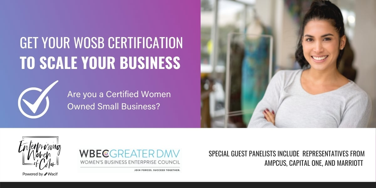 Graphic for WOSB Certification Event